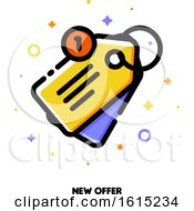 Icon Of Sale Price Tag For New Offer Concept