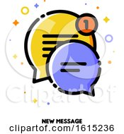 Icon Of Two Cute Speech Bubbles For New Message Concept