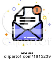 Icon Of Open Envelope For New Mail Concept