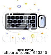 Icon Of Computer Wireless Keyboard Top View And Mouse For Gadget Concept