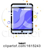 Icon Of Tablet Computer With Big Display With Purple Screen For Gadget Concept