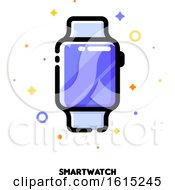 Icon Of Smart Watch For Gadget Concept