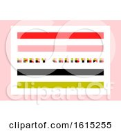 Minimalistic Merry Christmas Greeting Card With Retro Style Lettering And Abstract Multicolor Blocks