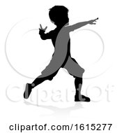 Child Silhouette On A White Background