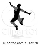 Street Dance Dancer Silhouette On A White Background