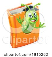 Graduate Bookworm Caterpillar Worm In Book