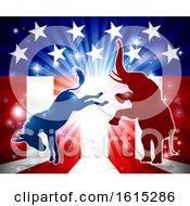 Elephant Fighting Donkey by AtStockIllustration