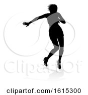 Singer Pop Country Or Rock Star Silhouette Woman On A White Background