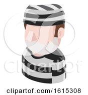 Prisoner Man Avatar People Icon by AtStockIllustration