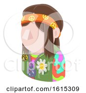 Hippy Hipster Man Avatar People Icon