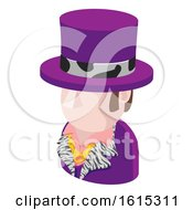 Purple Suit Man Avatar People Icon