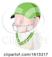 Cricket Man Avatar People Icon