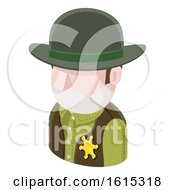 Sheriff Cowboy Man Avatar People Icon by AtStockIllustration