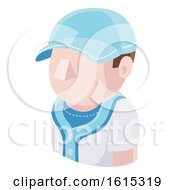 Baseball Man Avatar People Icon by AtStockIllustration