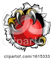 Poster, Art Print Of Cricket Ball Eagle Claw Talons Tearing Background