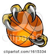 Poster, Art Print Of Eagle Bird Monster Claw Holding Basketball Ball