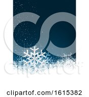 Poster, Art Print Of Blue And White Winter Snowflake Christmas Background