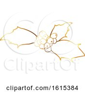 Golden Sprig Of Christmas Holly