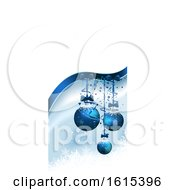 3d Vertical Christmas Banner With Baubles