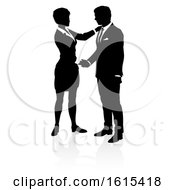 Poster, Art Print Of Business People Silhouette On A White Background