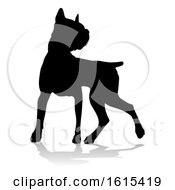 Poster, Art Print Of Dog Silhouette Pet Animal On A White Background