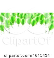 Green Party Balloons Background