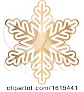 Gold Winter Christmas Snowflake