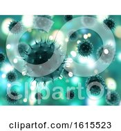3D Medical Background With Abstract Virus Cells