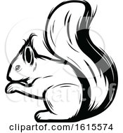 Clipart Of A Black And White Squirrel Royalty Free Vector Illustration by Vector Tradition SM