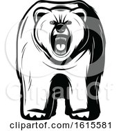 Clipart Of A Black And White Bear Royalty Free Vector Illustration by Vector Tradition SM