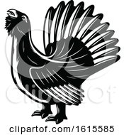 Clipart Of A Black And White Bird Royalty Free Vector Illustration by Vector Tradition SM