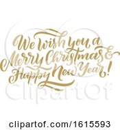 We Wish You A Merry Christmas And Happy New Year Greeting