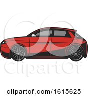 Clipart Of A Car Royalty Free Vector Illustration