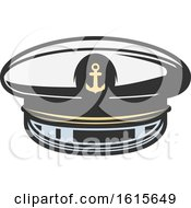 Clipart Of A Captain Hat Royalty Free Vector Illustration