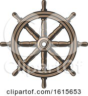 Clipart Of A Ships Helm Royalty Free Vector Illustration