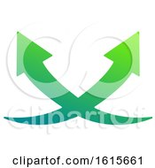 Clipart Of A Green Arrow Design Royalty Free Vector Illustration by Vector Tradition SM