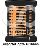 Clipart Of A Copper Spool Royalty Free Vector Illustration