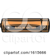 Clipart Of A Battery Royalty Free Vector Illustration
