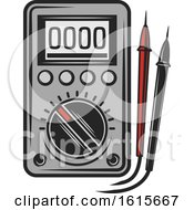 Clipart Of A Voltmeter Royalty Free Vector Illustration