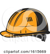 Clipart Of A Helmet Royalty Free Vector Illustration