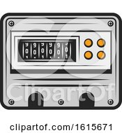 Clipart Of A Meter Royalty Free Vector Illustration