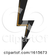 Clipart Of A Bolt Of Electricity Royalty Free Vector Illustration