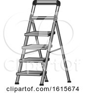 Clipart Of A Ladder Royalty Free Vector Illustration