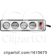 Clipart Of A Power Strip Royalty Free Vector Illustration