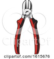 Clipart Of A Pair Of Wire Cutters Royalty Free Vector Illustration