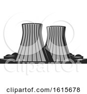 Clipart Of A Nuclear Power Plant Royalty Free Vector Illustration