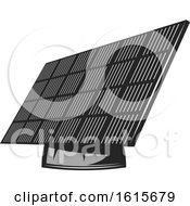 Clipart Of A Solar Panel Royalty Free Vector Illustration