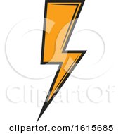 Clipart Of A Bolt Of Electricity Royalty Free Vector Illustration by Vector Tradition SM