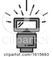 Clipart Of A Camera Flash Royalty Free Vector Illustration