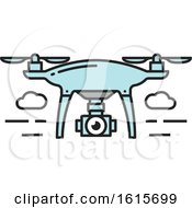 Clipart Of A Flying Drone Royalty Free Vector Illustration